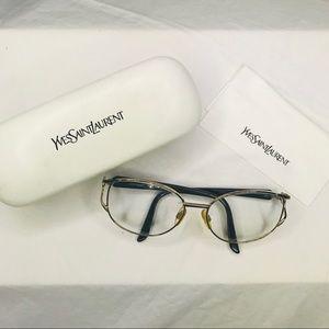 Yves Saint Laurent Gold Rim Eyeglasses